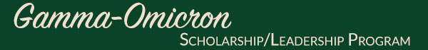 Gamma-Omicron Scholarship/Leadership Program